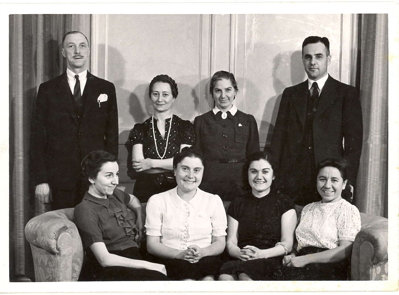 Nicholas Artamonoff (back, far right) with other members of the faculty and staff of Robert College.