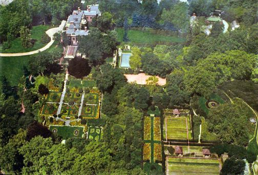 D.O. Garden Stories   Aerial View of Dumbarton Oaks, From East (1935)